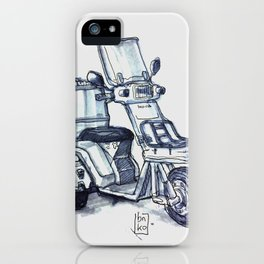Honda delivery scooter japan iPhone Case