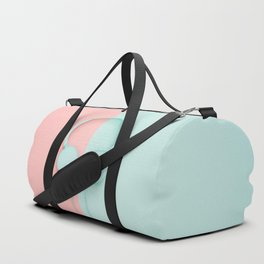 Blue stylish headphones Duffle Bag