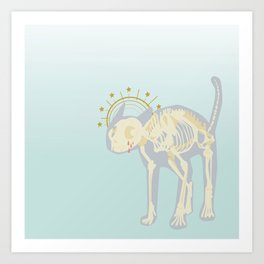 cattus sanctus Art Print