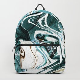 Liquid Teal Marble Backpack