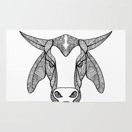 Brahma Bull Head Mandala Rug