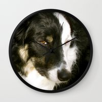 best friend Wall Clocks featuring Best Friend by Layton Zimmages