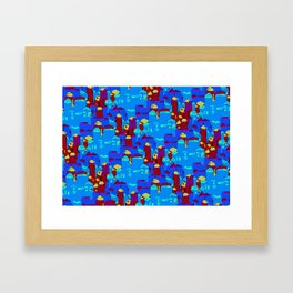 Commune Labyrinths Framed Art Print