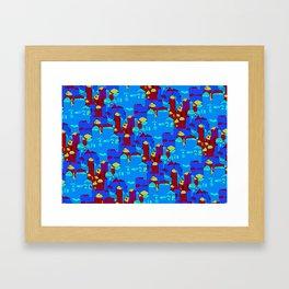 Commune Labyrinths Framed Art Print