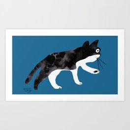 wilbur the cat Art Print