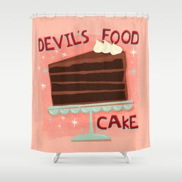 Devil's Food Cake An All American Classic Dessert Shower Curtain