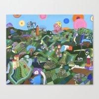 giants Canvas Prints featuring Sleeping Giants by Valeriya Volkova