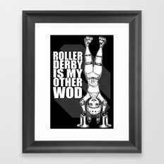 Roller Derby is My Other Wod Crossfit Framed Art Print