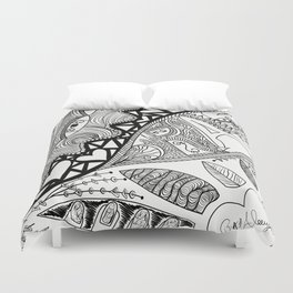I love to Draw Duvet Cover