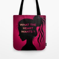 selena gomez Tote Bags featuring Selena Gomez by Lunah