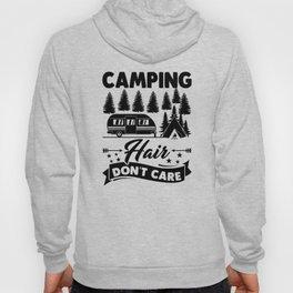 Camping Hair Dont Care v2 bw Hoody