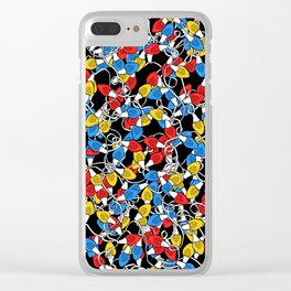 Christmas Lights Madness Clear iPhone Case