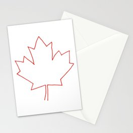 One line Canada Stationery Cards