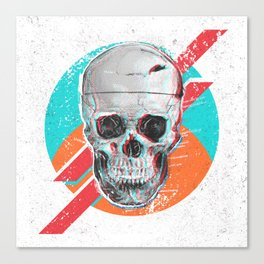 3D Skull Death Pop Canvas Print