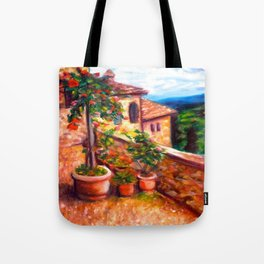Little Tuscan Town Tote Bag
