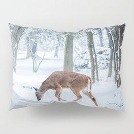 snow deer Pillow Sham
