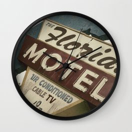 Florida Motel Wall Clock