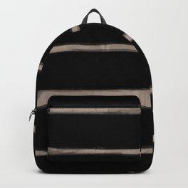 Skinny Strokes Gapped Horizontal Nude on Black Backpack
