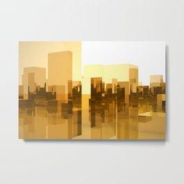 abstract gold city Metal Print