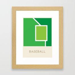 Baseball (Sports Surfaces Series, No. 5) Framed Art Print