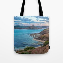 Sunset over Lombok Tote Bag