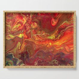 Acrylic Pour #45 Lava-Love Serving Tray