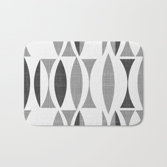 Seventies Black and White Bath Mat