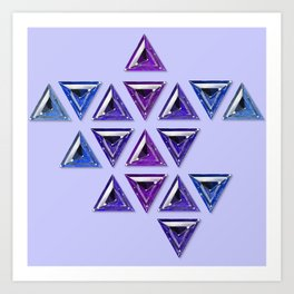 Cool Tones Gradient Trillion Pattern Art Print