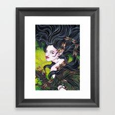 Queen of dragonflies Framed Art Print