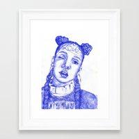 fka twigs Framed Art Prints featuring FKA twigs by Bethany Mannion