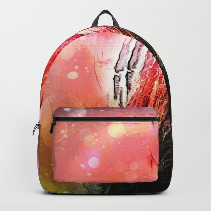 Walking Away From The Lights Of Never Backpack