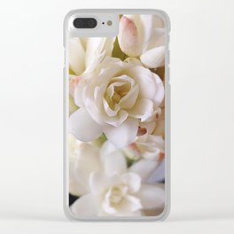 WHITE NARD Clear iPhone Case