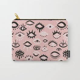 Mystic Eyes – Blush & Black Palette Carry-All Pouch