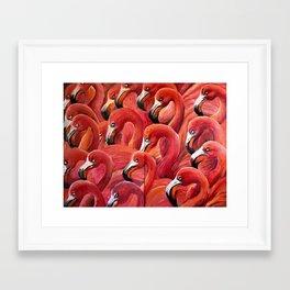 Flamingo Gaggle Framed Art Print