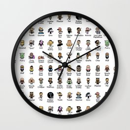 Butch McLogic's 8-Bit Guide to Gay Labels Wall Clock