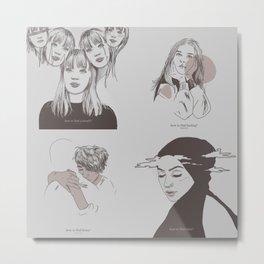 DRUCK - mains minimalism Metal Print