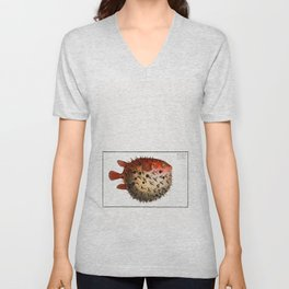 Marcus Elieser Bloch - Prickly Bottlefish Unisex V-Neck