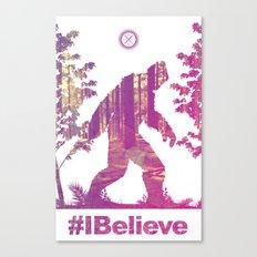 #Ibelieve Big Foot Canvas Print