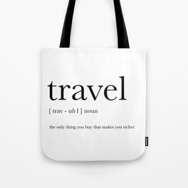 Travel Definition Tote Bag