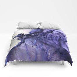 Purple Iris Petal Macro Photography Comforters
