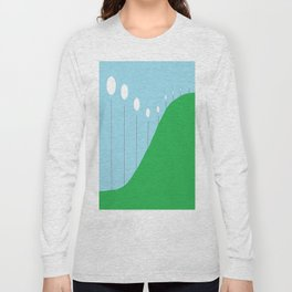 Abstract Landscape - Lights on the Hill Long Sleeve T-shirt