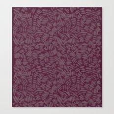 Brushstrokes, maroon Canvas Print