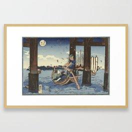 Tsukuda Island, Utagawa Kuniyoshi, 1831 - 1835 Framed Art Print