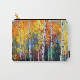 Autumn birches on the edge Carry-All Pouch