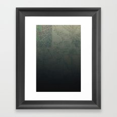 Midnight Map Framed Art Print