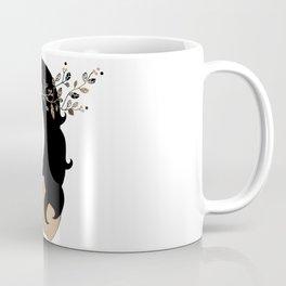 Girl with magpie Coffee Mug