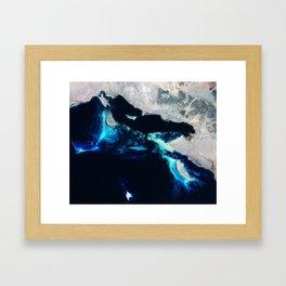 Sea Coastline Framed Art Print