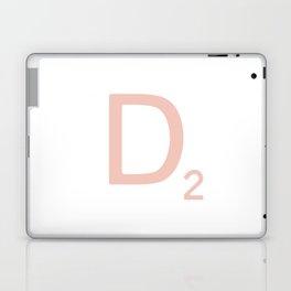 Pink Scrabble Letter D - Scrabble Tile Art Laptop & iPad Skin