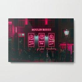 The 3 red ladies / Amsterdam / Bladerunner Vibes Metal Print