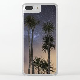 Nighttime Cabbage trees Clear iPhone Case